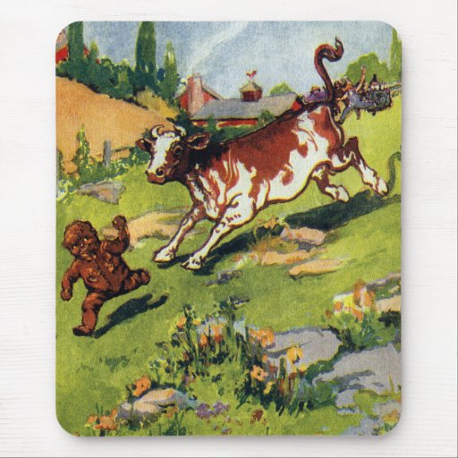 The Gingerbread Boy & the Cow Mousepads