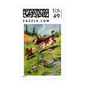 The Gingerbread Boy & the Cow Postage Stamp