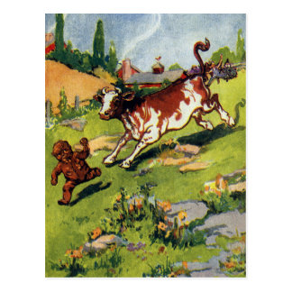 The Gingerbread Boy & the Cow Postcard