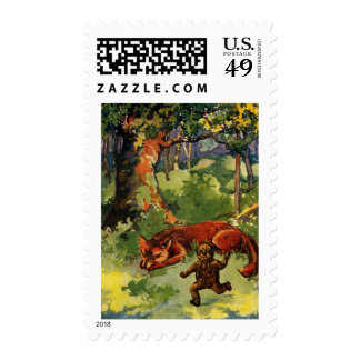 The Gingerbread Boy & the Fox Postage Stamp