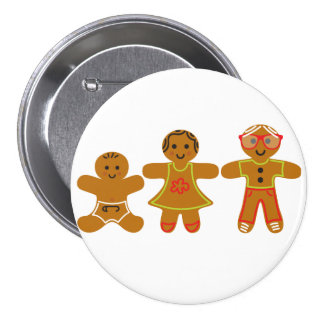 The Gingerbread Family Button