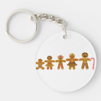 The Gingerbread Family Keychain