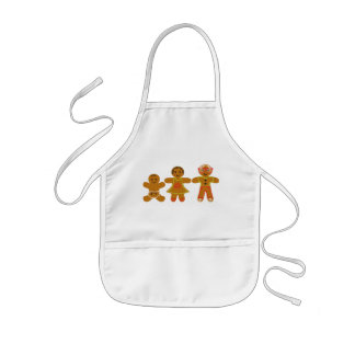 The Gingerbread Family Kids' Apron