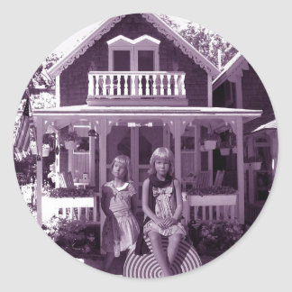 The Gingerbread House Classic Round Sticker