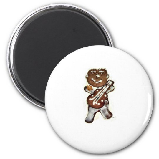 The Gingerbread Man Rocks 2 Inch Round Magnet
