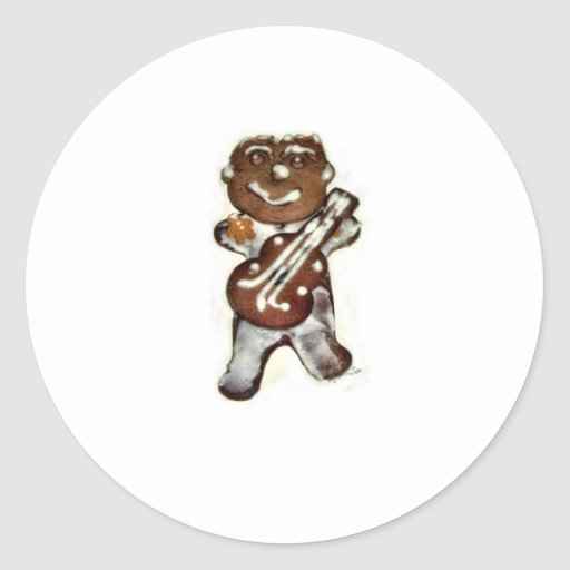 The Gingerbread Man Rocks Classic Round Sticker