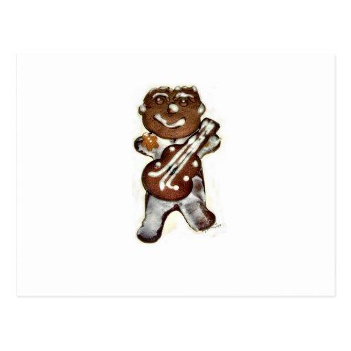 The Gingerbread Man Rocks Postcard