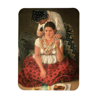 The Gipsy Boy and Girl, (oil on canvas) Magnet