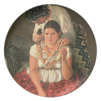 The Gipsy Boy and Girl, (oil on canvas) Melamine Plate