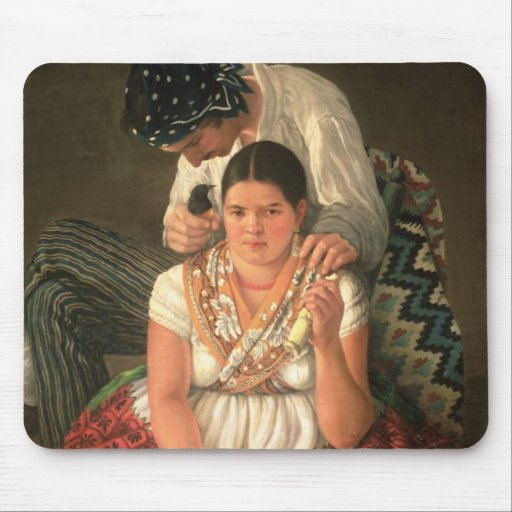 The Gipsy Boy and Girl, (oil on canvas) Mouse Pads