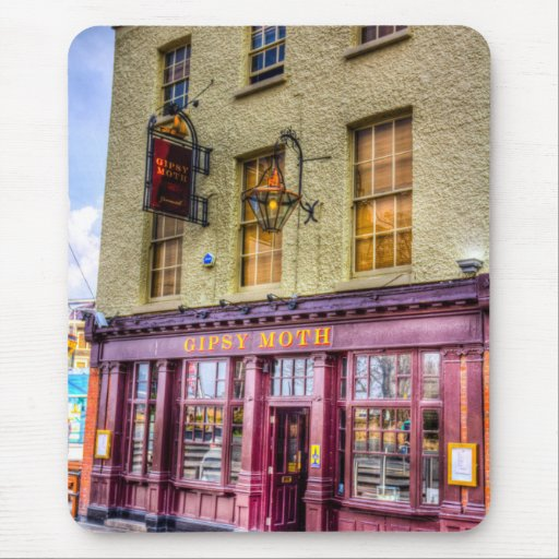 The Gipsy Moth Pub Greenwich Mouse Pads