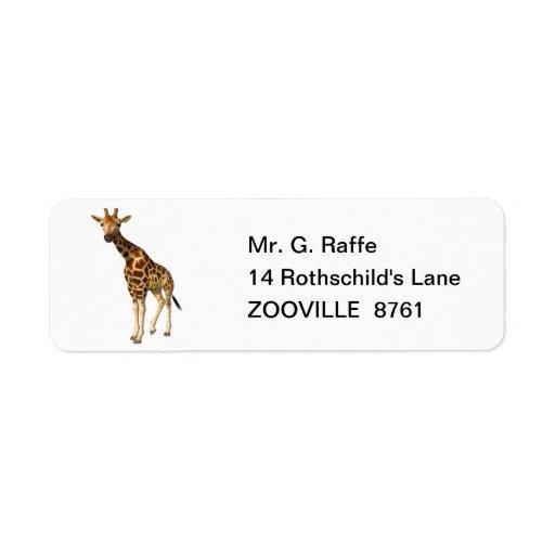 The Giraffe Custom Return Address Labels