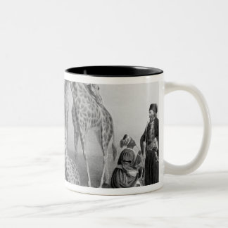 The Giraffes with the Arabs Two-Tone Coffee Mug