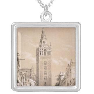 The Giralda, Seville Square Pendant Necklace