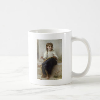 The girl 2 who does knitting coffee mug