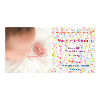 The girl and baby of Baby Girl Announcement, Card