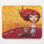 The Girl and the Fox Mousepad