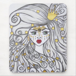 The girl and the golden beads. mouse pad