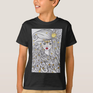 The girl and the golden beads. T-Shirt