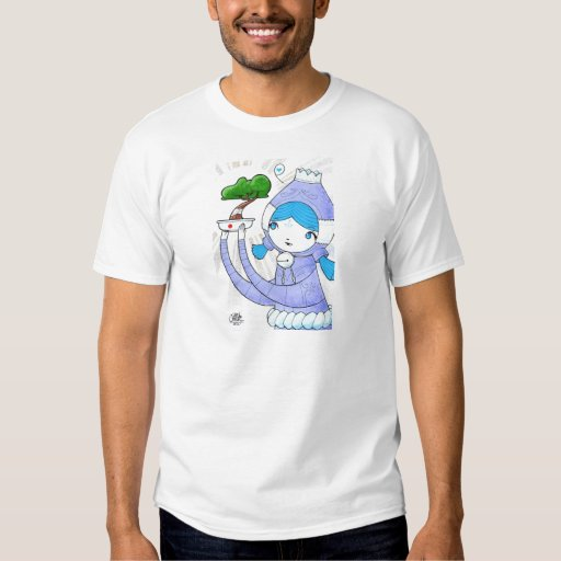 The girl and the injured bonsai tshirt