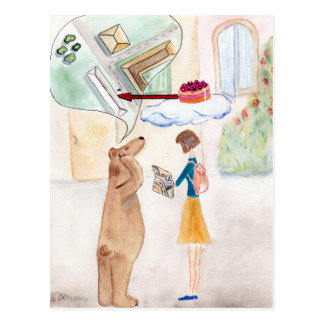 The Girl and The Teddy Postal