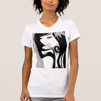 the girl black and white T-Shirt