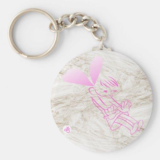 The girl  dream basic round button keychain