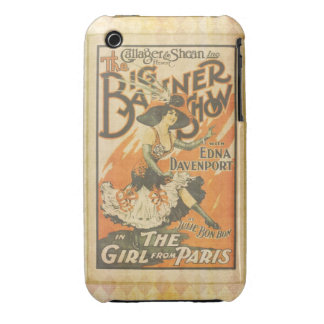 The girl from Paris, vintage iPhone 3 Case