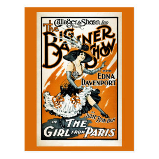 The Girl from Paris, vintage musical poster Postcard