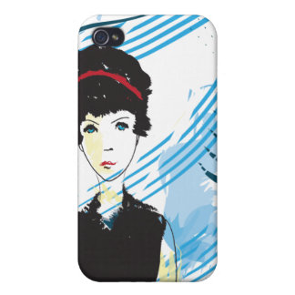 The Girl in Black iPhone 4/4S Case