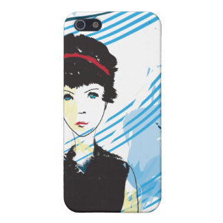 The Girl in Black iPhone 5 Cases