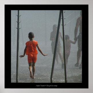 The girl in orange poster
