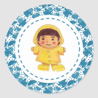 The Girl in the Rainy Season Classic Round Sticker