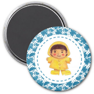 The Girl in the Rainy Season Refrigerator Magnets