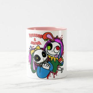 The girl it seems! Two-Tone coffee mug
