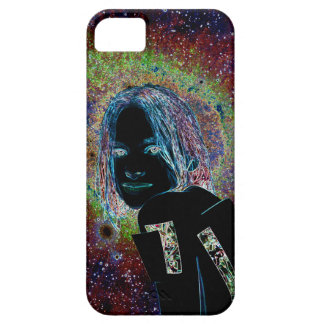 The girl of stars extraterrestrial robot iPhone 5 covers