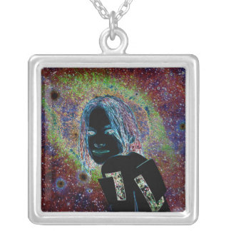 The girl of stars extraterrestrial robot pendant