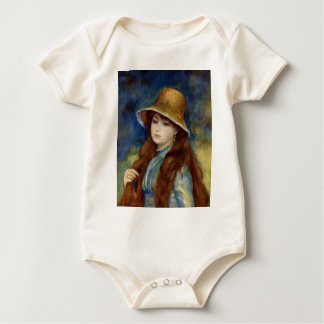 The girl of the farmer who wears the wheat straw h bodysuits