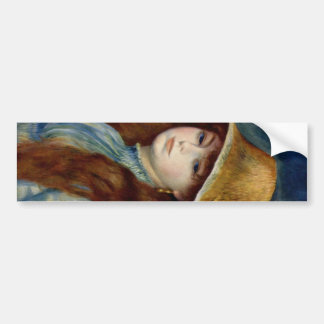 The girl of the farmer who wears the wheat straw h bumper stickers