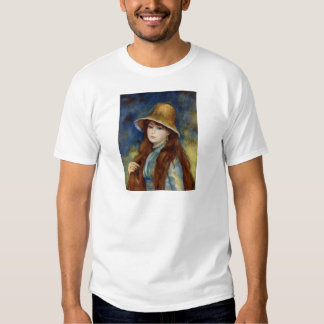 The girl of the farmer who wears the wheat straw h tshirts