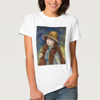 The girl of the farmer who wears the wheat straw t shirt