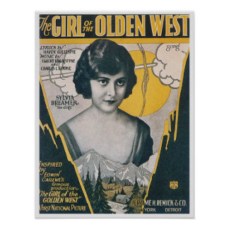 The Girl of the Olden West Poster