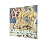 The Girl on the Land Serves the Nation's Need Canvas Prints