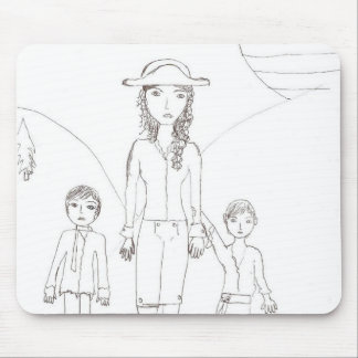The Girl Pirate and her child crew Mouse Pad
