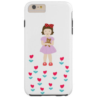 The girl sewing involving the ku ma is crossed ove tough iPhone 6 plus case