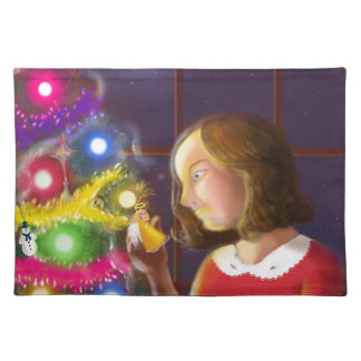 The Girl & the Angel of the Tree Cloth Placemat