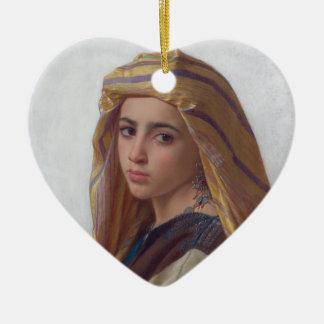 The girl who had the pomegranate ceramic ornament