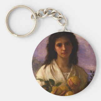 The girl who has the lemon keychains