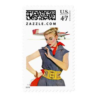 The Girl Who Stole Airplanes Postage Stamp