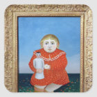 The girl with a doll, c.1892 or c.1904-05 square sticker